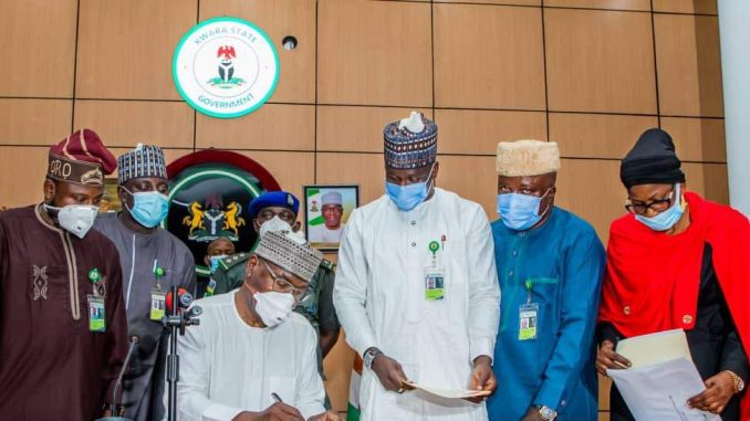 The Kwara State Governor Signs N137.6bn For 2021 Budget