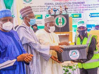 The Gombe State 2021 (200 ICT Trainees) Gets Starter Pack