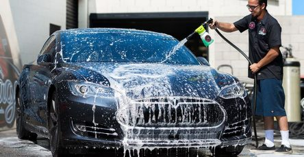Car washing job at Industrial Park Collision in Canada